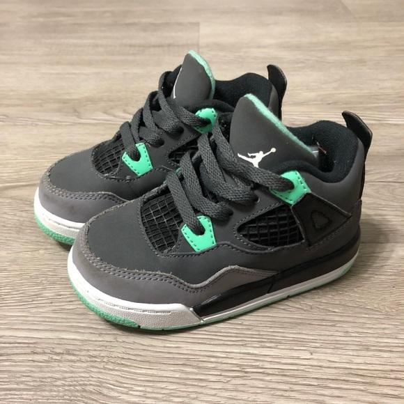promo code 4e1b5 1cb4f Green Glow 4S Size 8C (Toddler Size )